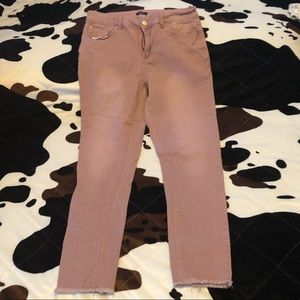 Rue21 Rose Gold Color Skinny Jeans